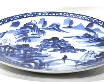 Blue and White Platter - FREE SHIPPING