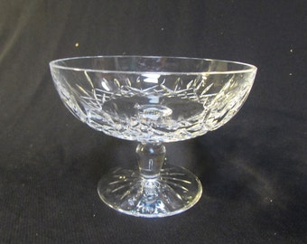 "WATERFORD Crystal ""LISMORE"" FOOTED Compote Bowl 6 1/4 """