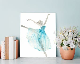 Watercolor Ballerina, Ballet gift, Dance Gifts, Ballerina Wall Art, Gift for Dancer, Dance Poster, Dance Print, Ballerina Print, Ballet Art