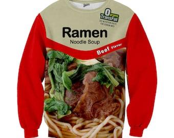 Beef Ramen Noodle Crewneck Sweater