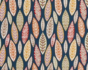 Multi Colored Large Leaves Print Upholstery Fabric By The Yard | Pattern # B0510C