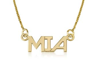Personalized gift-Name necklace gold-Personalized gift for friend