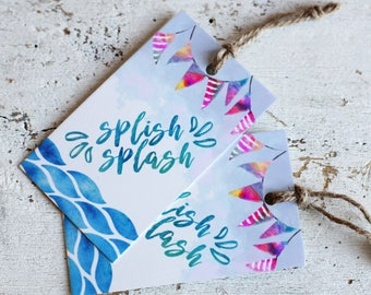 Printable Splish Splash Tags | Pool Party Favor Tag | Instant Download PDF | Printable Favor Tags | Beach Party Hang Tag | Water Party Tag