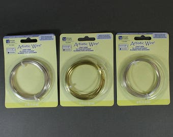 Hexagonal Artistic Wire Coils - 2 Colors and 3 Sizes (3 coils total) **CLOSEOUT**