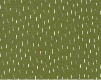Gingiber Merrily Fabric- Just a Dash Holly- dark green and white fabric