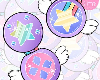 Star VS The Forces of Evil Style Compact Sticker Pack
