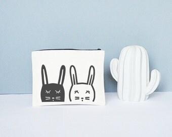 Pochette lapins - coton bio