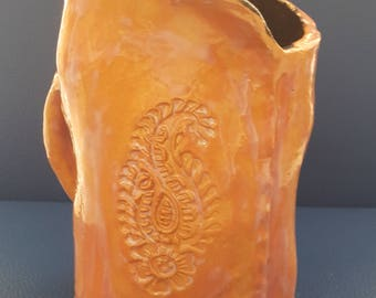 Hand-washing cup, Natla, purity cup, Jewish gift, Netilat yadaim, ceramic cup,Israel pottery, Judaica Gift