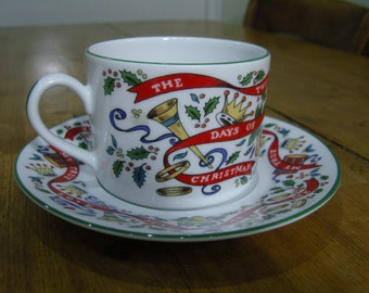 Royal Worcester Twelve Days of Christmas Cup and Saucer