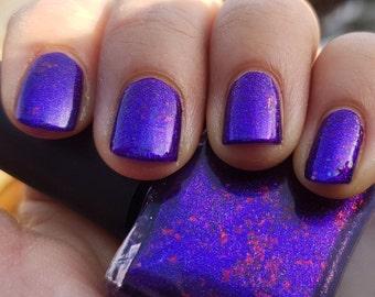 Glitter Is My Favorite Color!~Single Ladies Indie Nail Polish Purple Ultra Chrome Chameleon Flakies 10ML