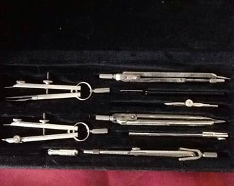 Vintage ANKER Precision Drawing Instruments S/308/V Germany.
