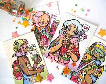 Sweet Apathy - 4 Prints Set