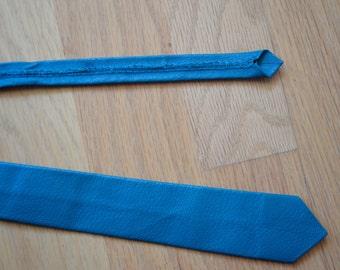 Vintage blue leather necktie