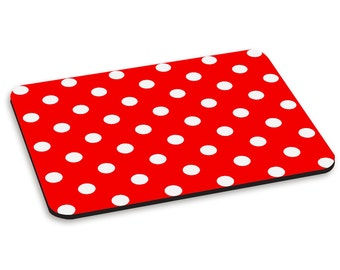 Polka Dot Red Pattern PC Computer Mouse Mat Pad