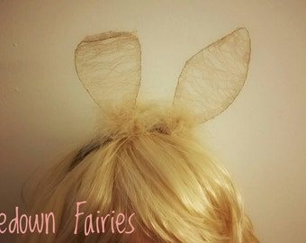 Bunny Ears Headband, Lace Ears, Rabbit Ears, Cosplay Animal Ears