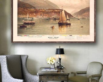 1887 West Point reprint poster - Vintage Americana nautical reprint - home/office decor- 2 sizes: 30x20 or 36x24