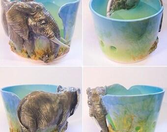 Elephant yarn bowl.