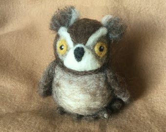 Great Horned Owl - Needle Felted