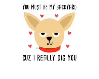 You Must Be My Backyard Cuz I Really Dig You Postcard