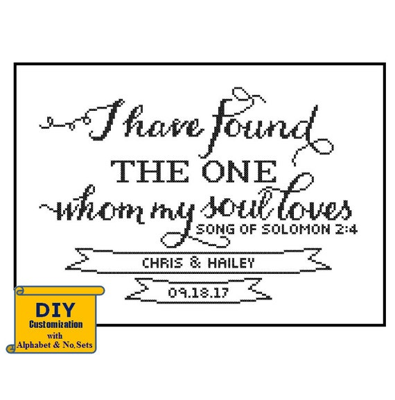 Song Of Solomon Cross Stitch I Have Found The One DIY