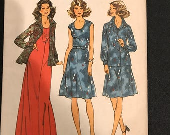 Vintage Dress Pattern, Simplicity, Size 12