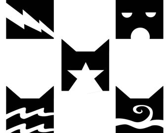 5x5In Warrior Cats Clans Decal
