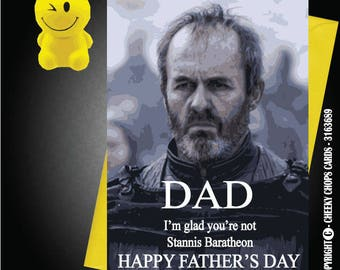 Funny/Rude/Novelty Cheeky Chops Cards - Father's Day / Dad - Stannis Game of thrones C659