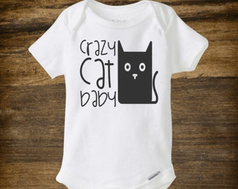 Crazy cat baby onesie, funny onesie