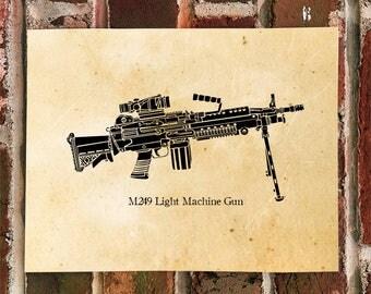 KillerBeeMoto: Limited Print M249 Light Machine Gun