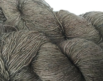 fine handdyed Mehrsilk single ply lace