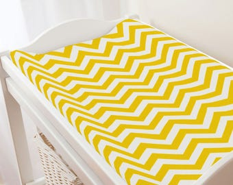 Carousel Designs Yellow Zig Zag Changing Pad Cover