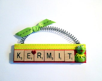 Love Kermit the Frog Scrabble Tile Ornament