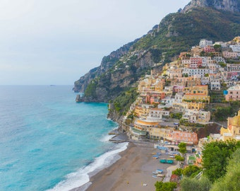 Positano Photography, Italy Photography, Amalfi Coast, Beach Photography, Fine Art Photography, Large Wall Art, Travel Photography
