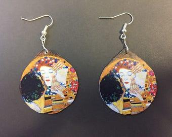 The Kiss Earrings (Klimt)
