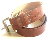 leather boyfriend belt with silver buckle