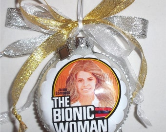 The Bionic Woman Tv Show inspired Tribute Christmas Ornament