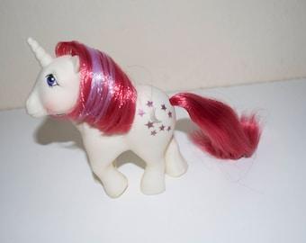 My Little Pony Moondancer Unicorn 1983 G1 MLP Pink White Purple Stars Moon