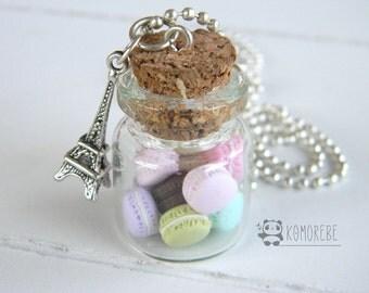 Macarons Paris, flask necklace, necklace