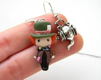 Mad Hatter inspired, earrings, Earrings