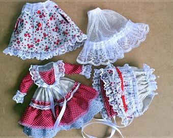 Blythe  Coat   Dress Bonnet Blythe Clothes Doll Сlothing for Blythe OOAK Doll Clothes for Blythe