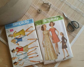Simplicity 60s S-16 Vintage Patterns 8498 & 8188
