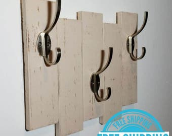 FREE SHIPPING - Sydney Coat Hanger and Hat Rack by Lane of Lenore - 3 Hook - Available in 20 colors and 5 hook finishes