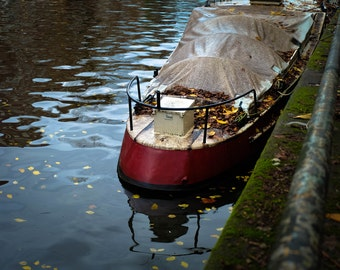 Amsterdam Canal and Boat Photograph | Pack of Notecards or Postcards