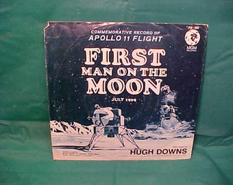 Commemorative Record  Apollo 11 Flight  MGM Record First Man On The Moon July 1969 w/ Sleeve