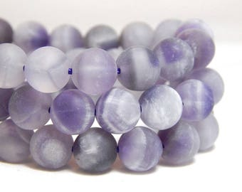 8mm Matte Dogtooth Amethyst, 8mm Matte Sage Amethyst, 8mm Matte Amethyst, Frosted Dogtooth Amethyst Beads, 8mm Matte Purple Beads, B-24B