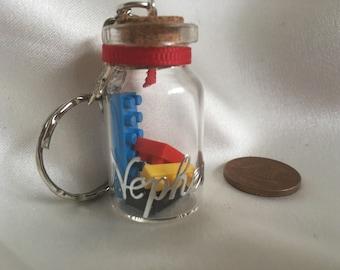 Unique keyring fairy jar in various designs