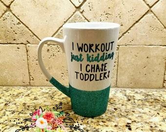 I workout glitter coffee mug