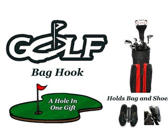 Golf bag hook