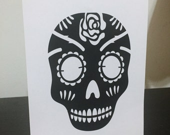 Skull Print/Card - One sided