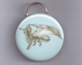 Dragon keychain keyring magical beast collectable art bottle opener gift idea